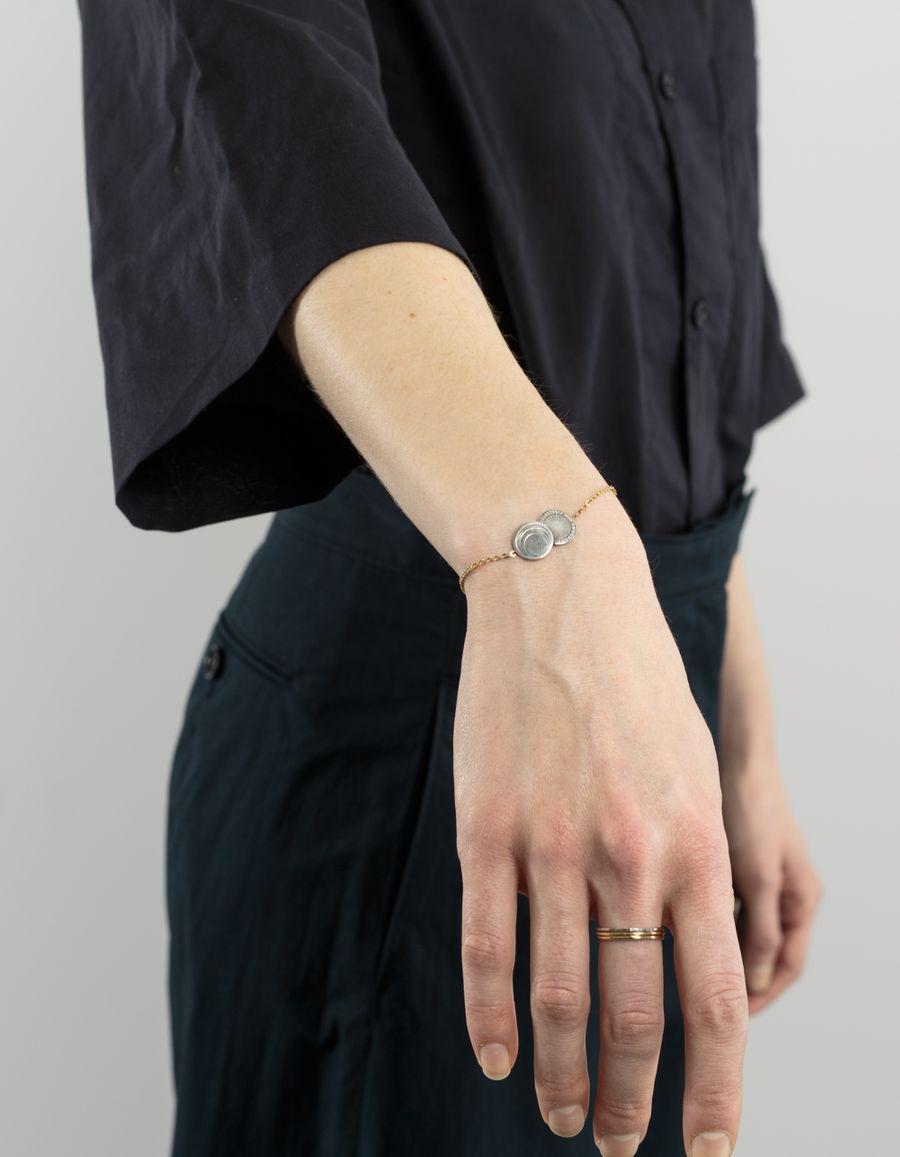 Laura Lee Astro Wheel Moon Bracelet