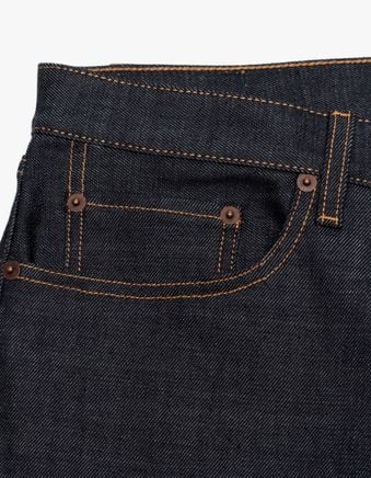 TM005 Tapered 5 Pocket Jeans Blue Raw
