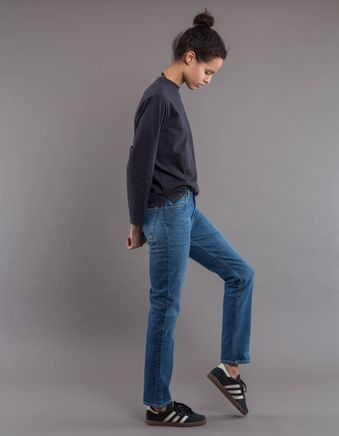 HW005 W' Highwaist Straight 5P Jeans