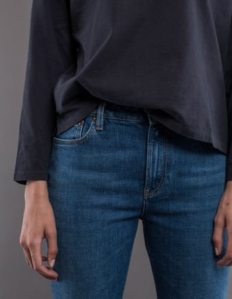HW005 W' Highwaist Straight 5P Jeans