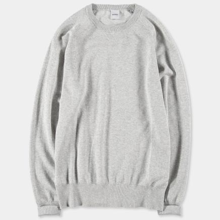 Knitted Cotton Piquet Sweater