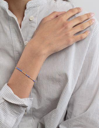 Asymetric Pearl Bracelet Blue