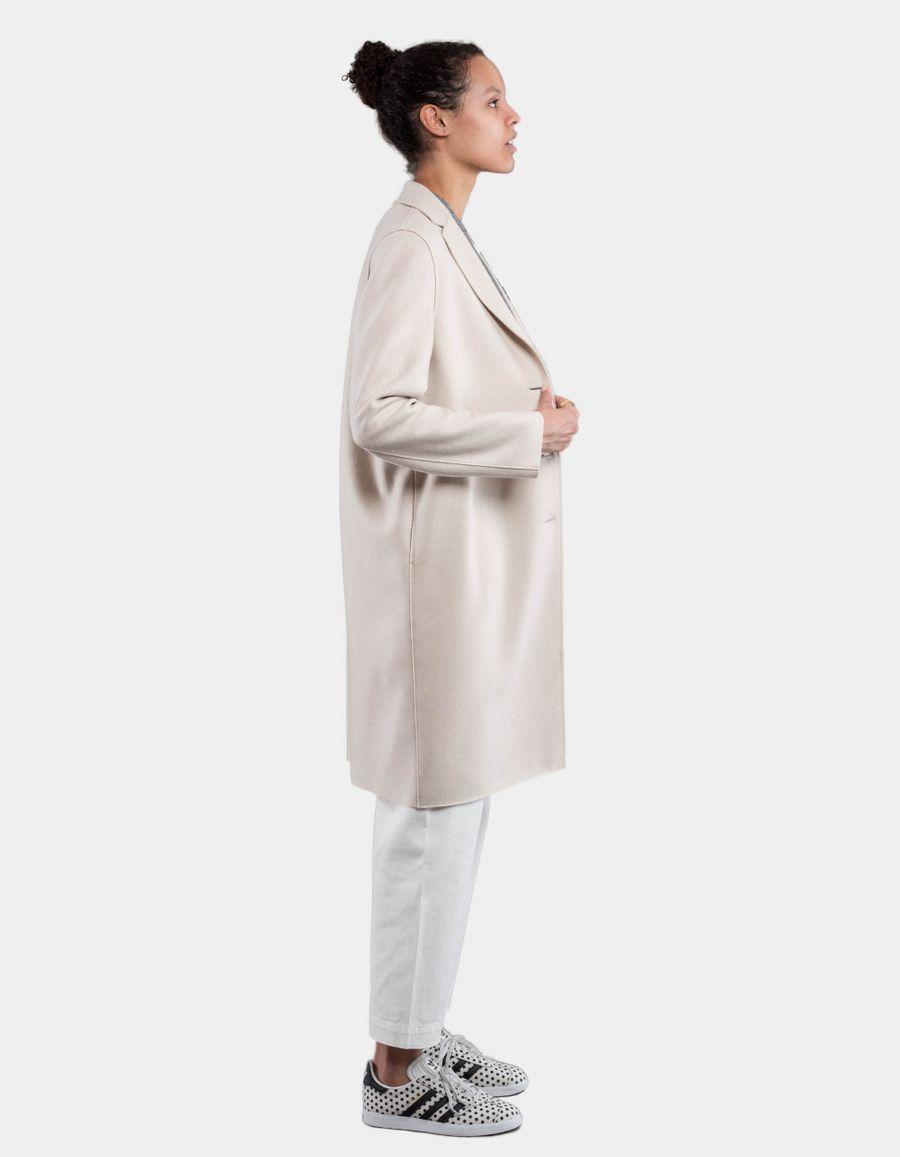 Harris Wharf London Overcoat Light Wool