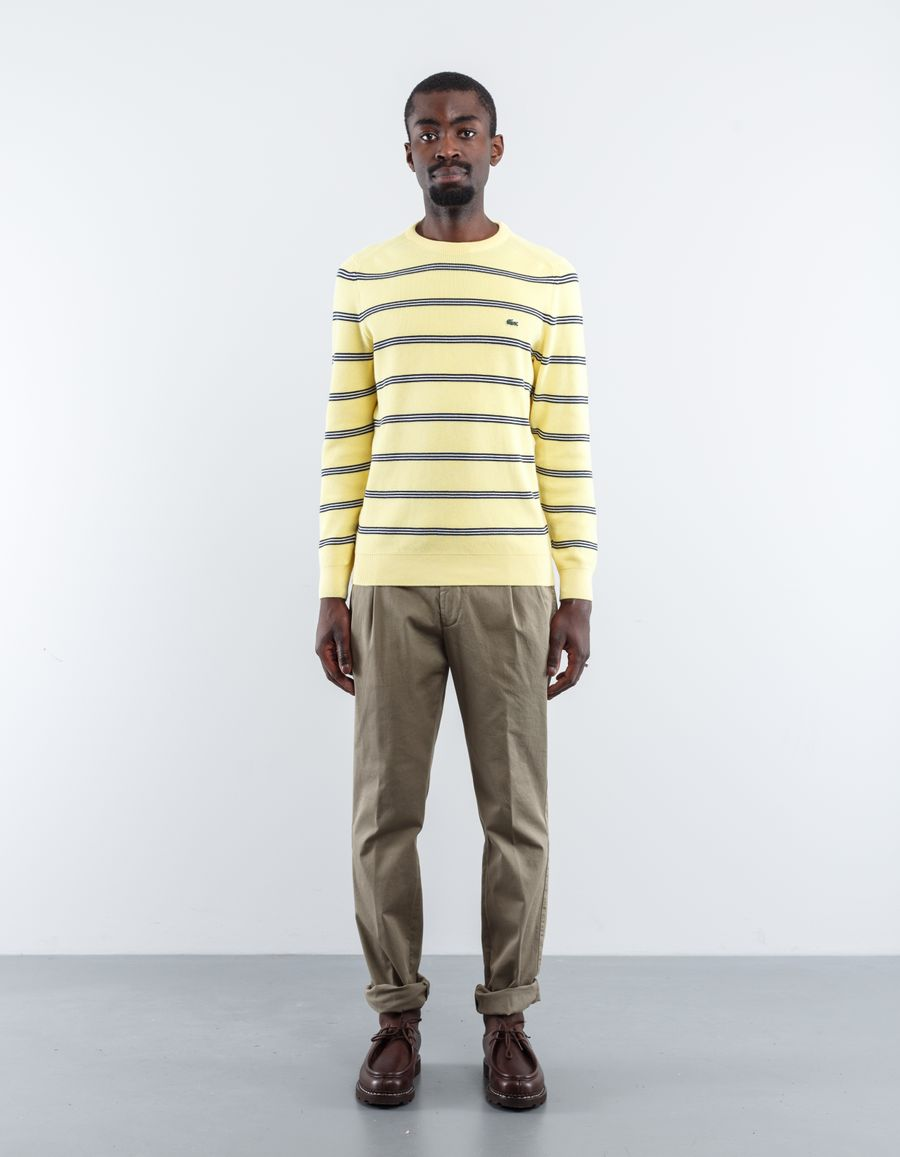 Lacoste Stripe Knitted CN Sweater