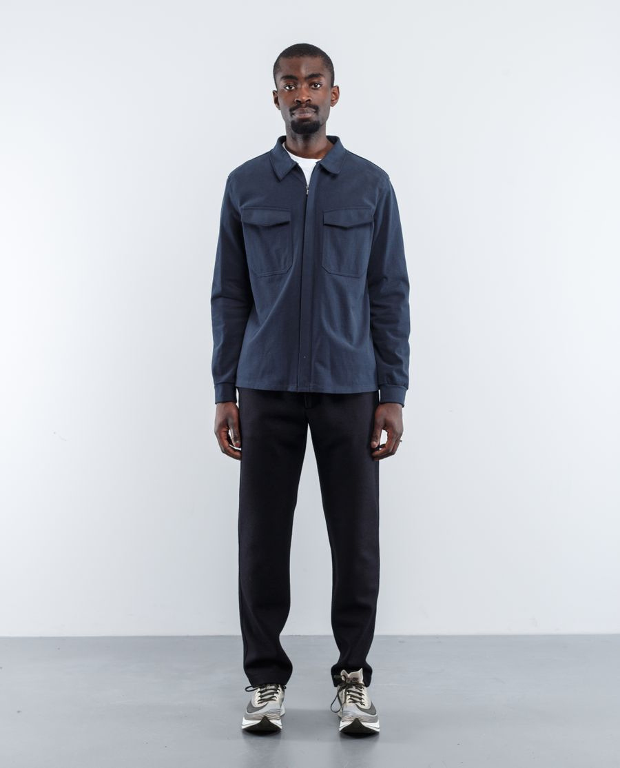 Harris Wharf London Smooth Cotton Jersey Overshirt
