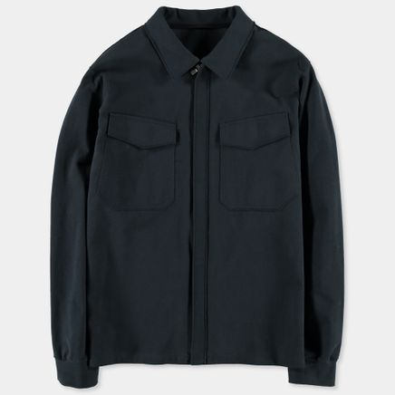 Smooth Cotton Jersey Overshirt