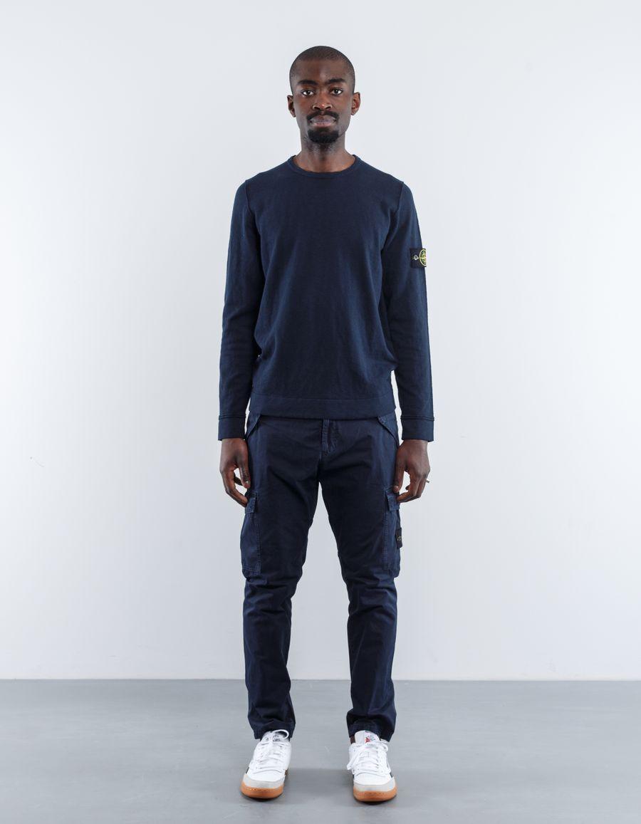 Stone Island 6815528B0 V0020 Garment Dyed Knitted CN Jumper
