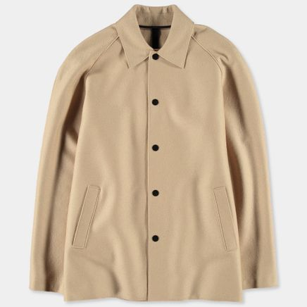 3/4 Raglan L Pressed Wool Coat