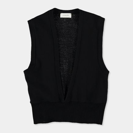 Knitted Deep V Wool Vest