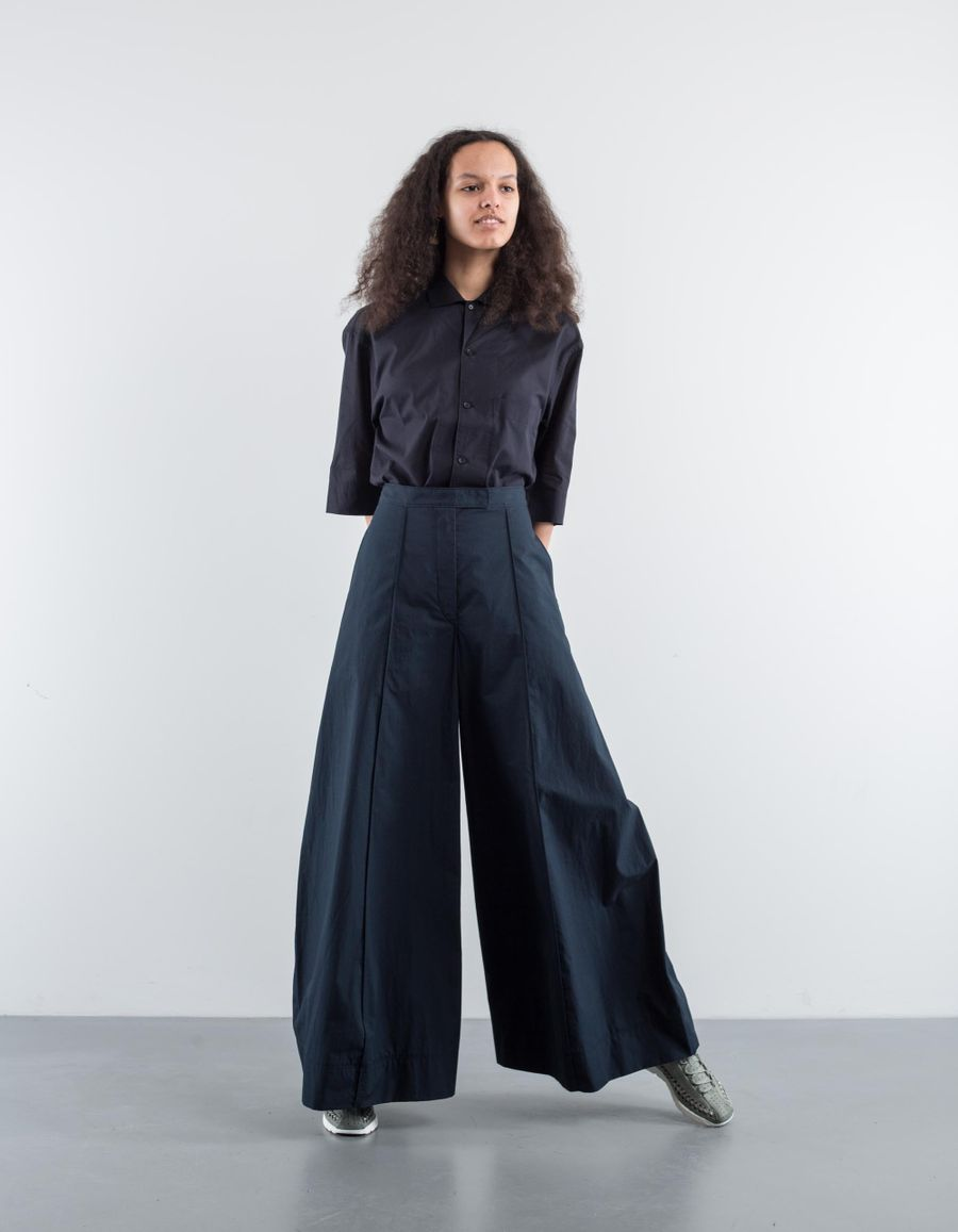 Lemaire Marine Trouser Midnight Blue