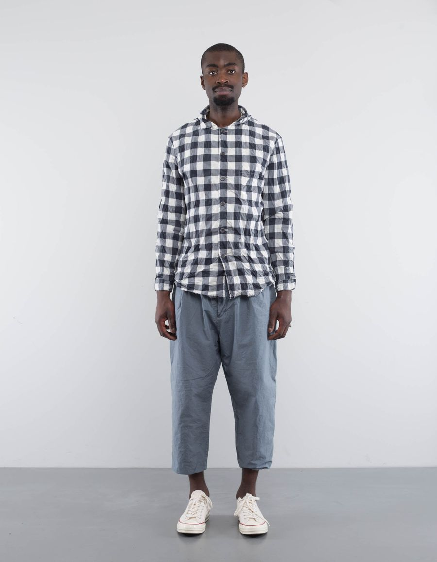 Casey Casey Lined Checked Pyjama Shirt