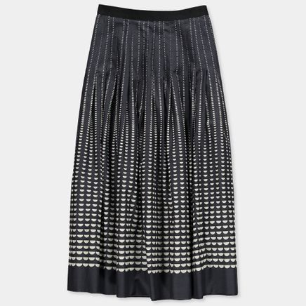 Half Moon Print Skirt