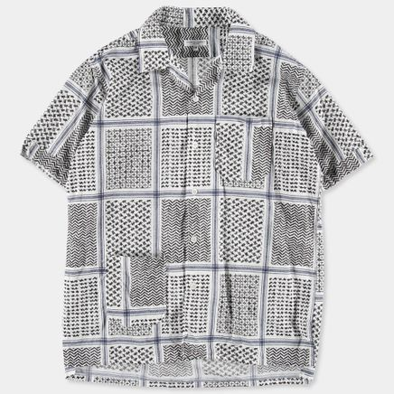 Camp Shirt Afghan Print