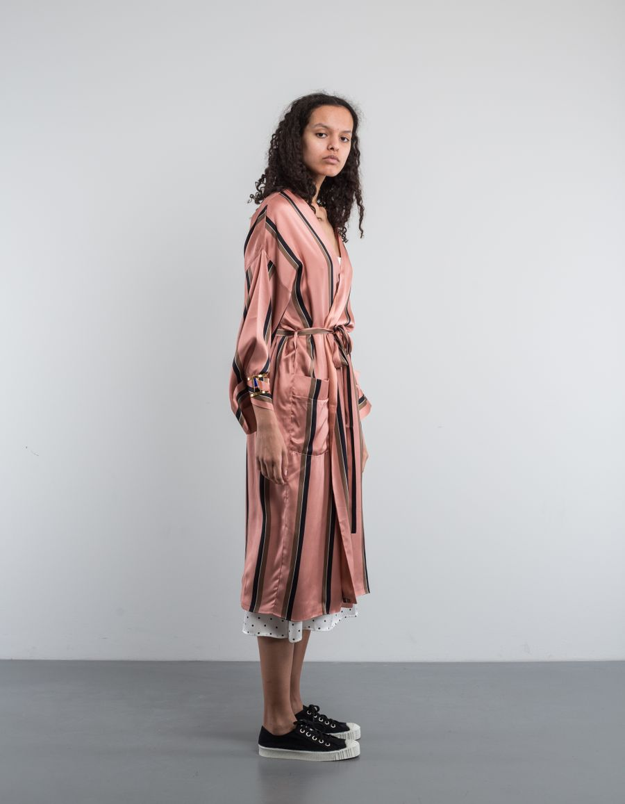 Asceno Silk Satin Robe