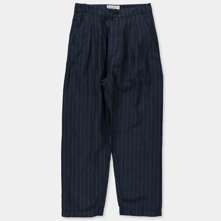 Li/Wo Stripe Double Pleat Pant