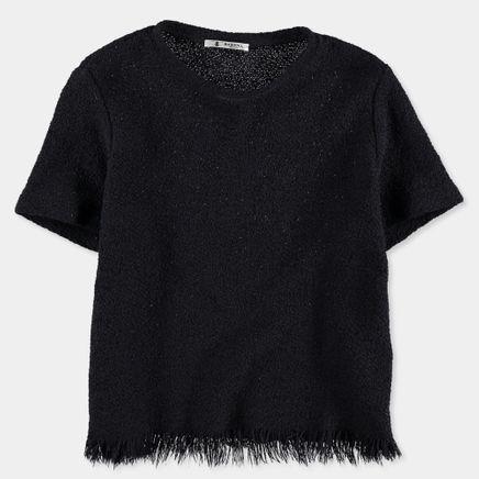 Aura Woven Fringe T-Shirt