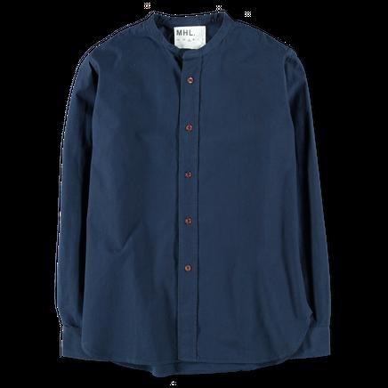 MHL Collarless Poplin Shirt