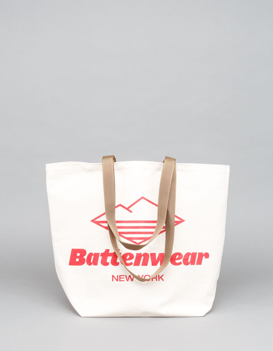 Battenwear Logo Print Canvas Tote