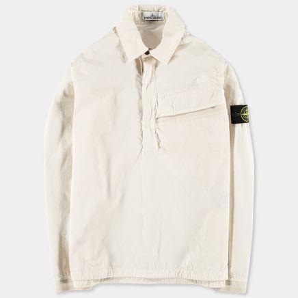 6815106WN V0197 Old Effect Wash Popover Shirt