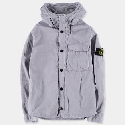 6815118WN V0147 Old Effect Hooded Overshirt