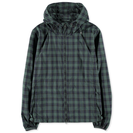Checked Cotton Hooded Jacket