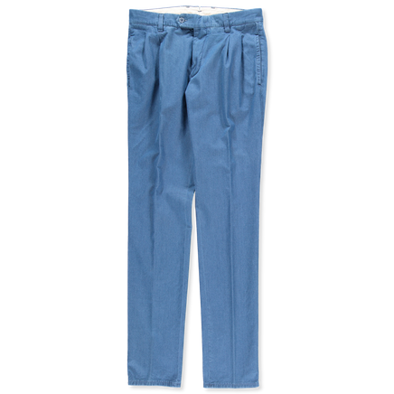 Washed Lt Denim Pleated Pant