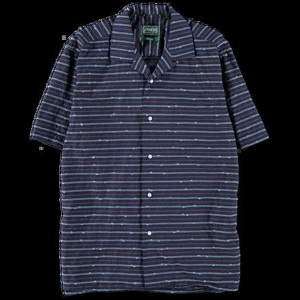 Structure Stripe Camp Shirt