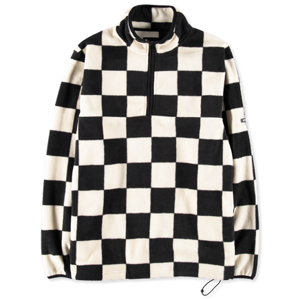 Checkered Mock Neck