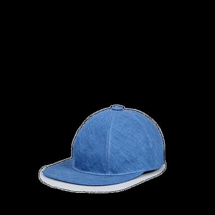 Baseball Creased Linen Cap Indigo
