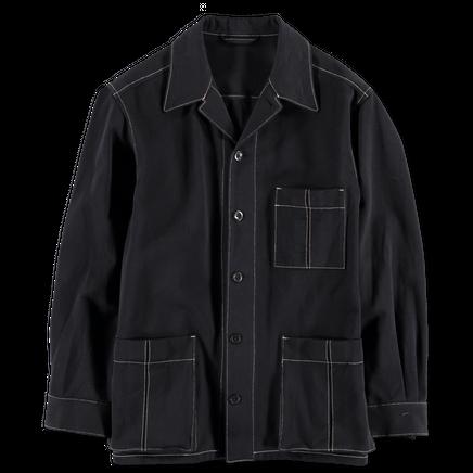 Contrast Stitch Worker Jacket
