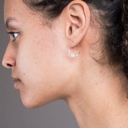 Peppy Hoop Earrings Dawn Blue