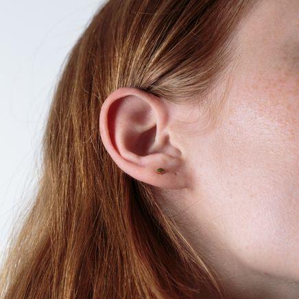 Raised Diamond Earring