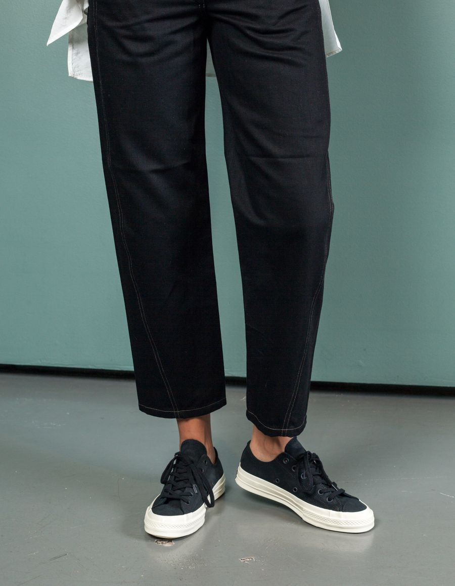 Twisted Pants Contrasting Seam