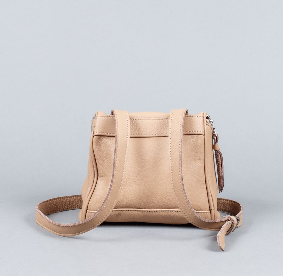Camera Bag Taupe Leather