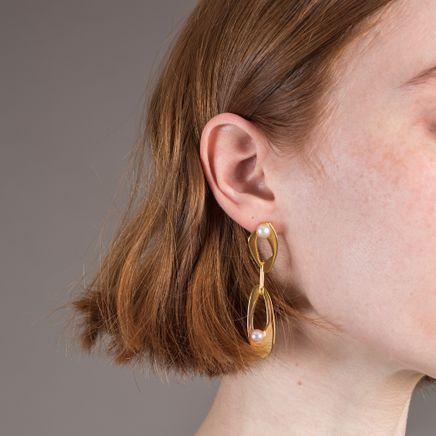 Infinity Earrings Pearled