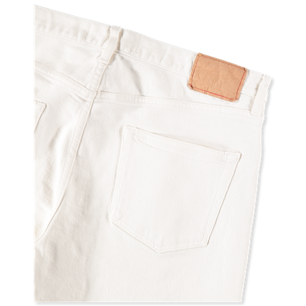 Tapered 5 Pocket Jeans White
