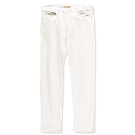 Tapered 5 Pocket Jeans White