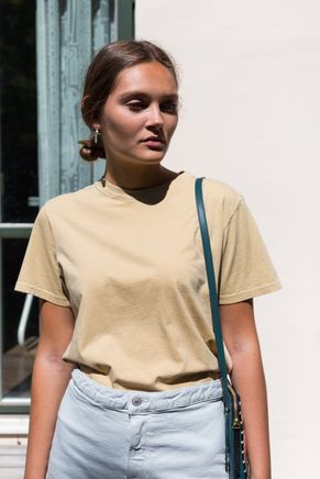 Luz Cotton T-Shirt Pale Yellow