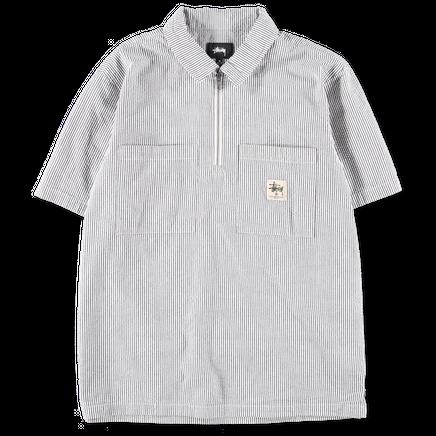 Half Zip Seersucker Shirt