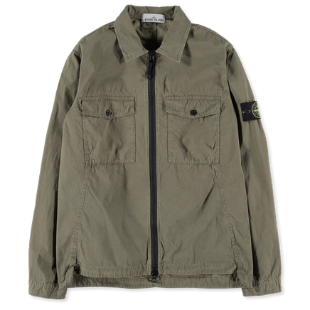 6915107WN V0158 Garment Dyed Zip Overshirt