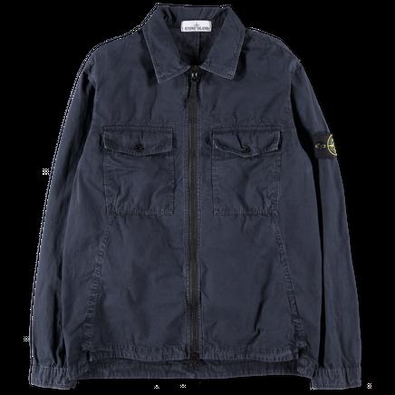 6915107WN V0120 Garment Dyed Zip Overshirt