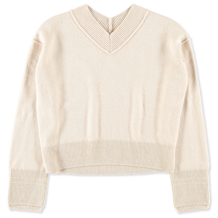 Cashmere High V-Neck Pullover