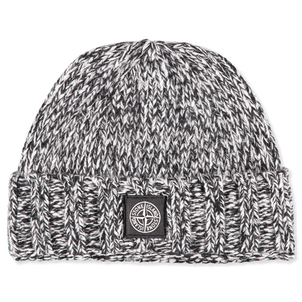 6915N07C1 V1099 Patch Logo Melange Wool Hat