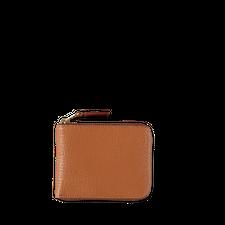 Comme des Garçons Wallet Zip Small Wallet - Col Inside - Brown