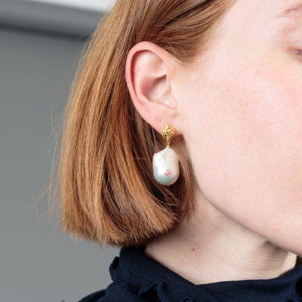 Baroque Pearl Shell Earrings