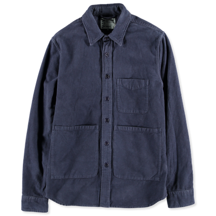 Washed Moleskin Overshirt