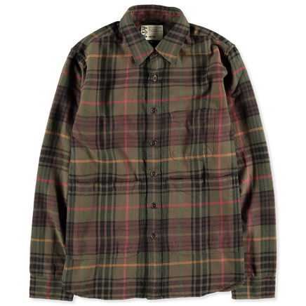 Washed Checked Overshirt