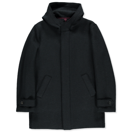 Long Boiled Wool Parka