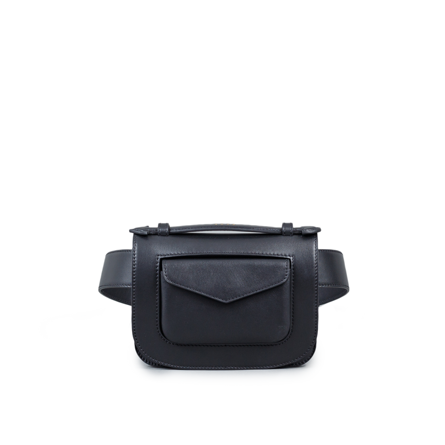 Aimée Belted Mini Leather Bag