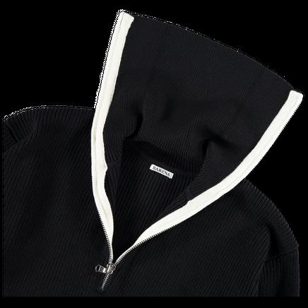 Nilde Zip Sweater Wool Rib